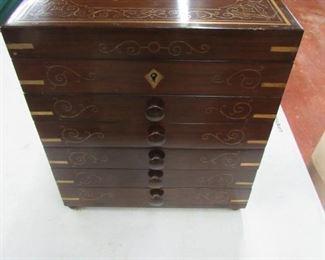 Fine Brass Inlay Pakistan Jewelry Box