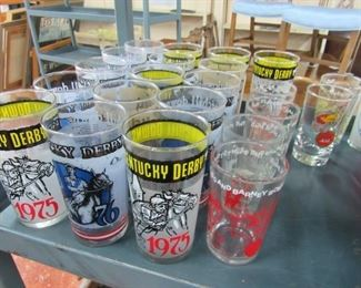 Kentucky Derby Glass Tumblers