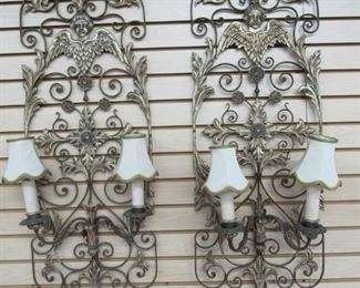 Scroll Metal Electric Sconces