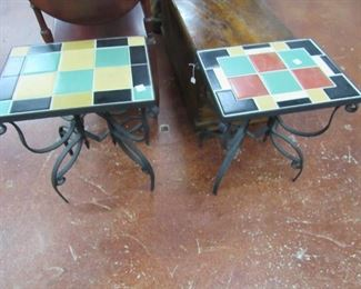 Spanish Tile Top End Tables
