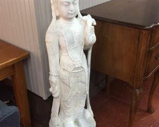 Kuan Yin Marble Floor Statue