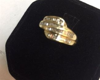 14kt Gold Pave Diamond Ring