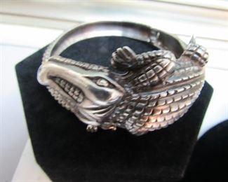 Sterling Silver Alligator Bracelet