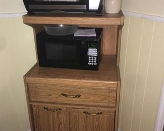 Microwave, toaster oven and stand