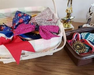 Larger Hair Bows and Various Cheerleading/Sports Medals