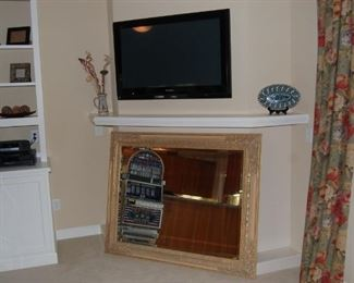 Panasonic Flat Screen TV, large mirror