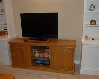 TV cabinet and a Sony flat screen