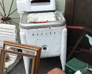Old washing machine - perfect for repurposed fountain