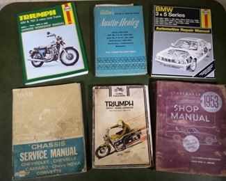 Car and Motorcycle manuals