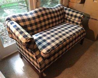 Plaid Johnston Benchworks Loveseat
