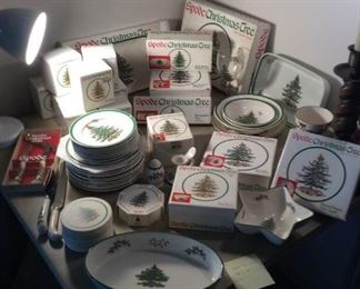 Spode Christmas Dishes in Original Boxes