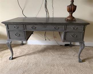 Custom Painted vanity/desk with Queen Anne legs