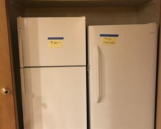 Almost new Refrigerator and Freezer