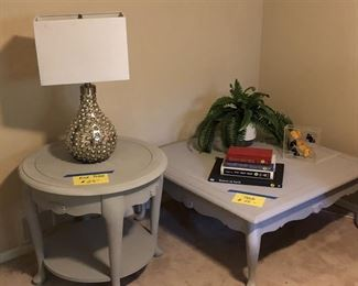 Wooden coffee and end table!  Classic designs--like new!