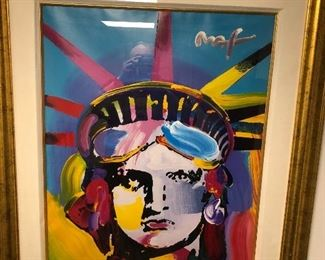 """Large Peter Max, """"Mixed Media"""" Art Piece! Professionally framed and ready for a new home!"""