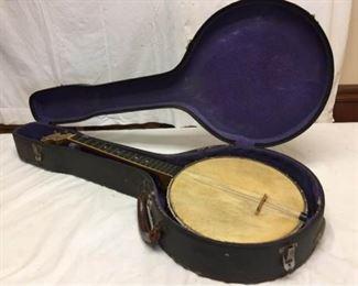 002 Vtg Little Wonder Banjo