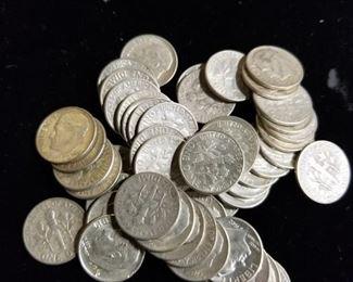 More Dimes 90% Silver