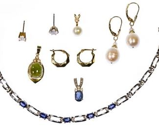 14k White Gold and 14k Gold Jewelery Assortment