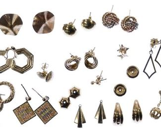 14k Gold Pierced Earring and Jacket Assortment
