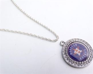 925 Sterling Silver Houston Astros Pendant Chain