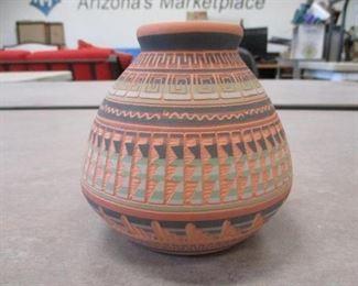 Navajo Etched Pot