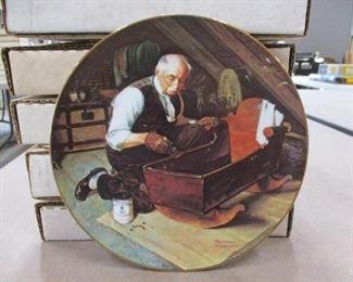 "Norman Rockwell ""Grandpa's Gift"" Plate"