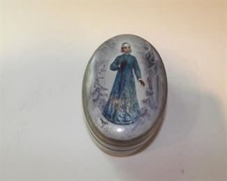 Vintage Russian signed Lacquer trinket box with original purchase information