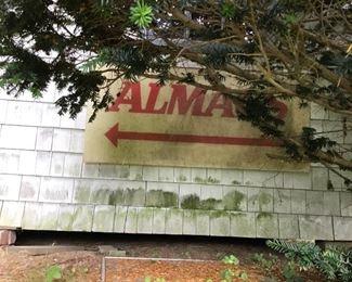 Vintage Almac  sign