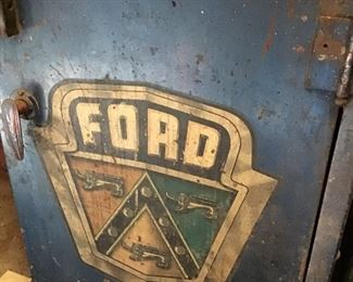 Antique Ford Motor Cabinet