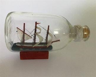 Ship in Bottle miniature