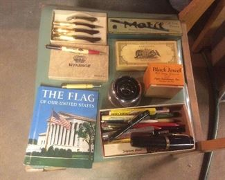 Vintage fountain pens. And pencils