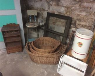 Old laundry baskets