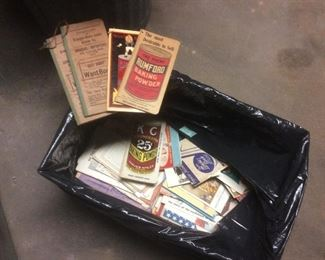 Wonderful box of old paper advertisements
