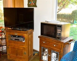 Cabinetry microwaves tvs