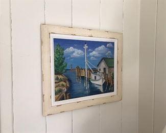 Original oil painting-Fishtown 1943 by local art teacher Gehry