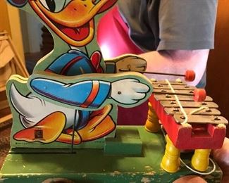 Vintage 1946 Fisher Price Donald Duck Xylophone