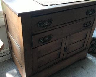 Antique maple cabinet