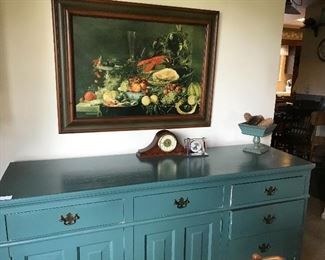 Painted maple buffet