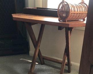 Vintage fold up pine table
