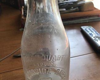Sutton's Bay Woodside Dairy bottle