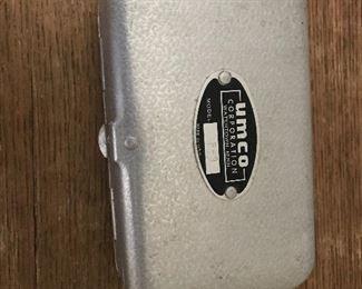 Vintage aluminum UMCO tackle box