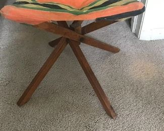 Antique camp stool