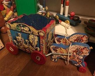 1957 Gong Bell Co Wood Circus Wagon