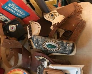 Vintage children's western gun belts and holsters