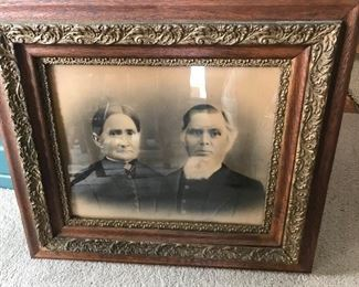 Beautiful framed antique photo