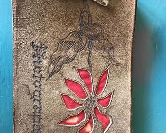 Antique Suede autograph book
