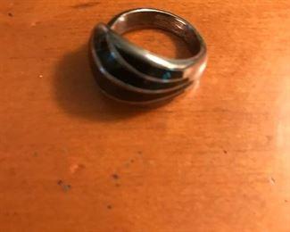1960 David Anderson enamel ring from Norway