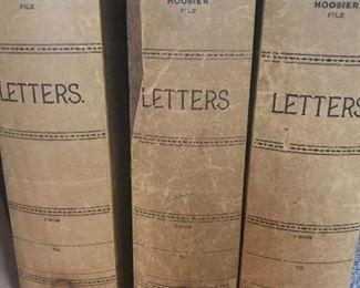 antique Hoosier letter boxes