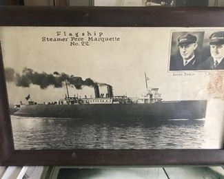 Original photograph of the Steamer Pere Marquette and Eaton Bahle as captain