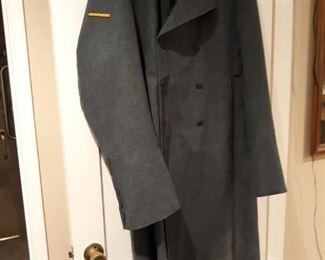 Vintage Wool Military Coat